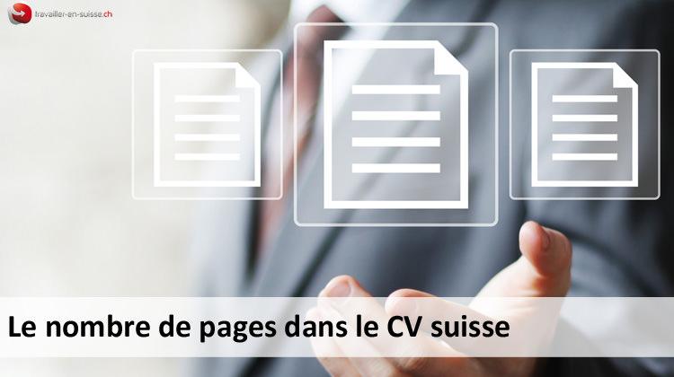 nombre de pages pour un cv suisse