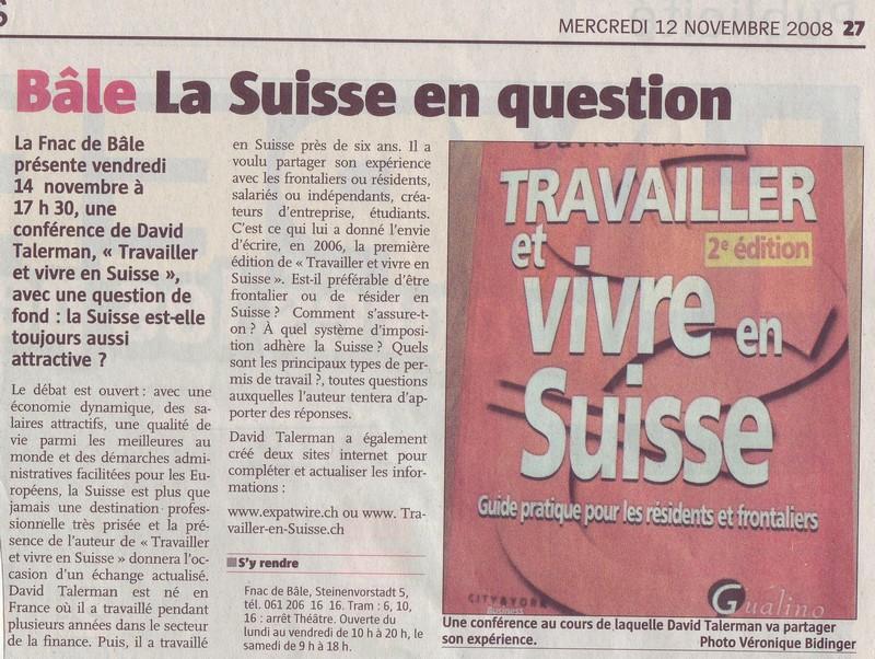 Travailler et vivre en suisse david talerman pdf