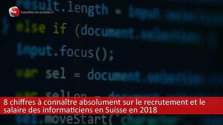 salaire des informaticiens en Suisse