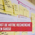 Checklist recherche emploi en Suisse