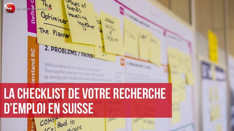 la checklist de votre recherche d u0026 39 emploi en suisse