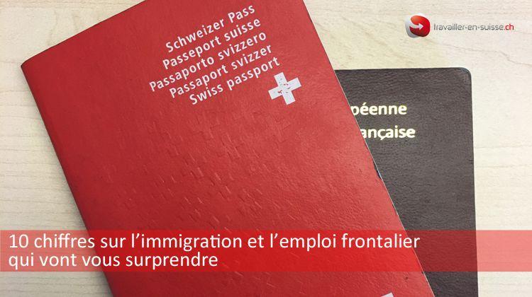 chiffres sur l'immigration et l'emploi frontalier en Suisse