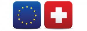 drapeaux suisse union européenne