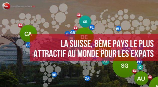 La Suisse, 8ème pays le plus attractif au monde pour les expats