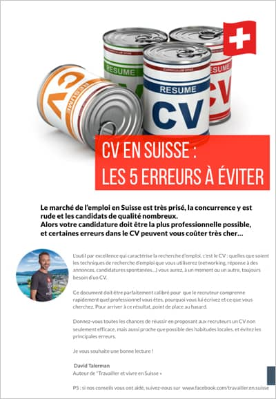 Guide du CV en Suisse