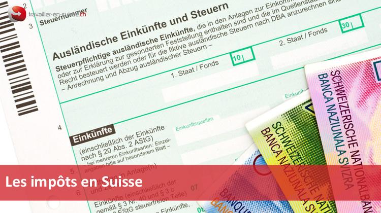 imp u00f4ts en suisse et fiscalit u00e9