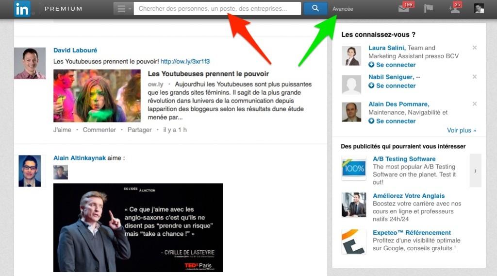 Exemple LinkedIn suisse