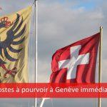 60 postes à pourvoir à Genève