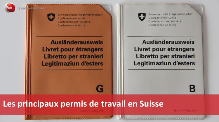 principaux permis de travail en suisse