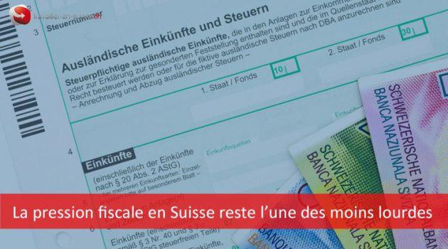La pression fiscale en Suisse reste l'une des moins lourdes des pays de l'OCDE