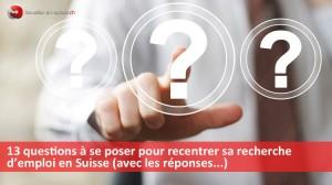 recherche d'emploi en Suisse