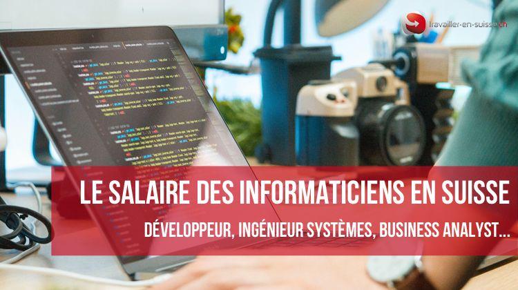 Salaires des informaticiens en Suisse [mis à jour]