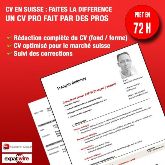 service de r u00e9daction de cv pour la suisse