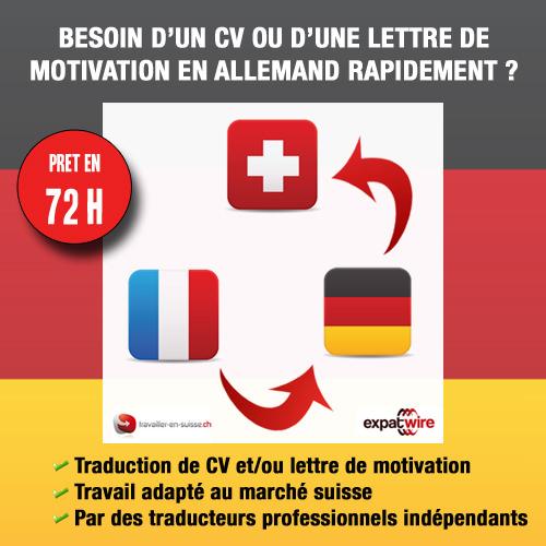 faites traduire votre cv en allemand pour la suisse